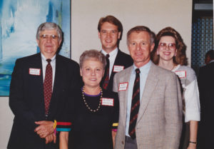 Johnny Washburn and his wife Mildred, Mike Roberts, Brooks Kracke, and Cindy Burns