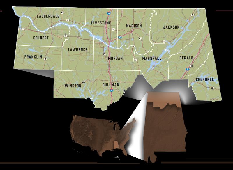 Our Region - North Alabama Industrial Development Association