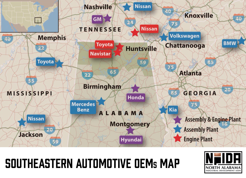 NADIA Southeastern Automotive OEM Plants