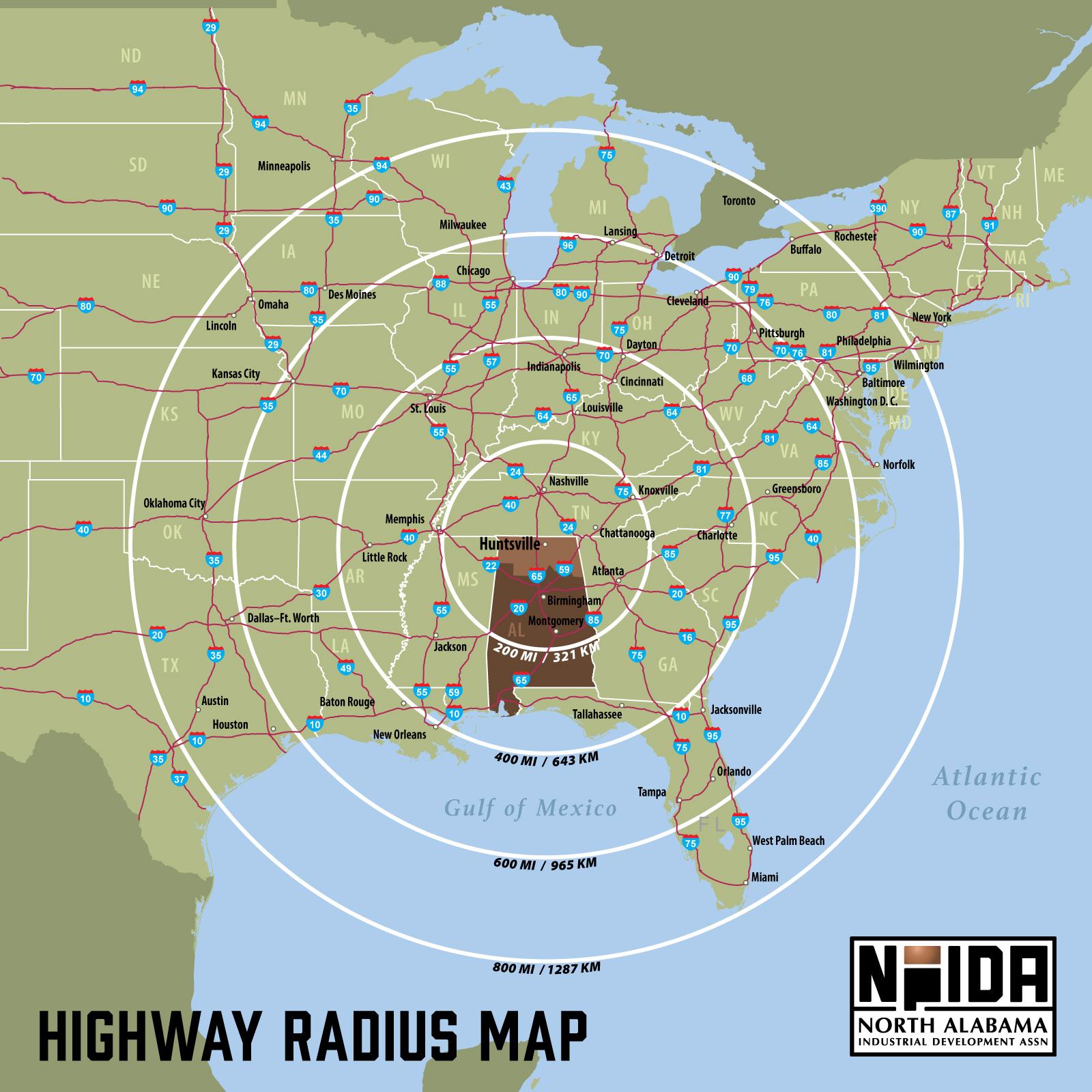 Regional Highway Map