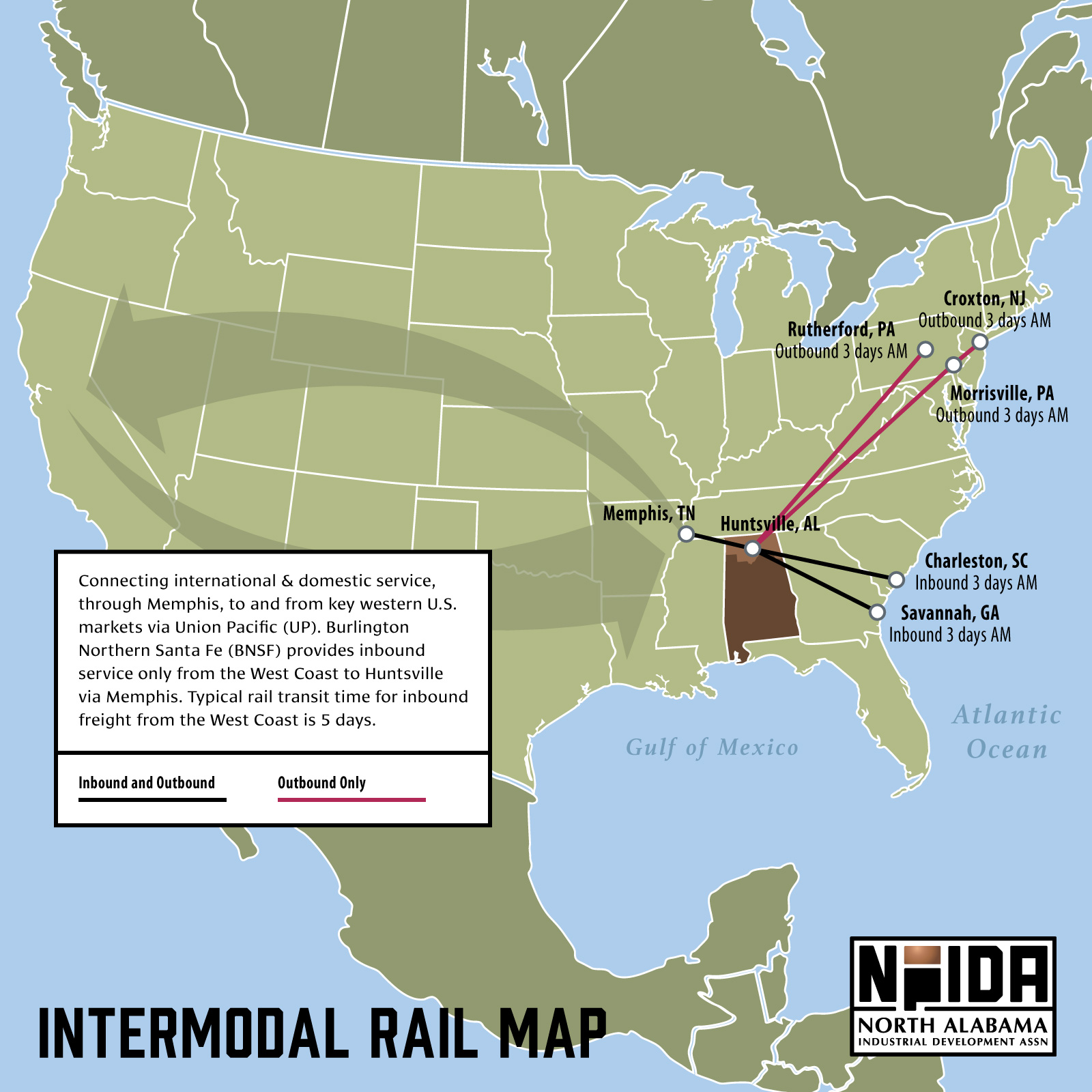 Intermodal Rail Map