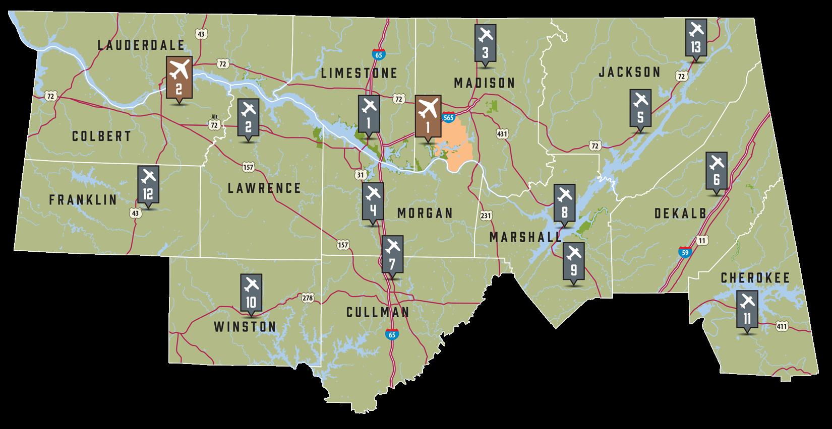 Regional - Southeastern Airport Map